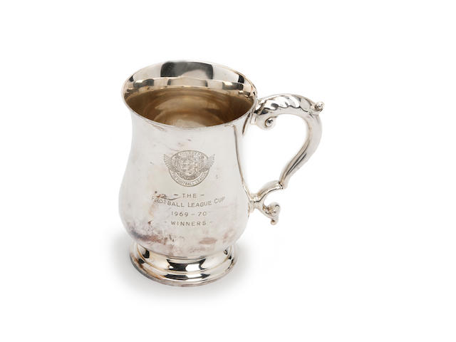 1969/70 league cup winner tankard awarded to Manchester City's Dave Ewing