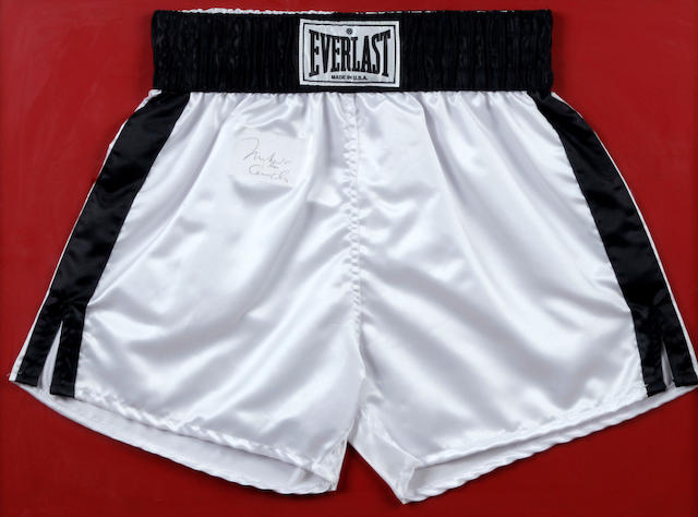 Muhammad Ali a.k.a. Cassius Clay hand signed shorts