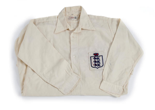 1940's Laurie Scott match worn England shirt