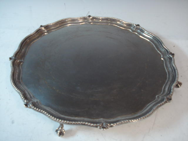 Sheffield silver salver