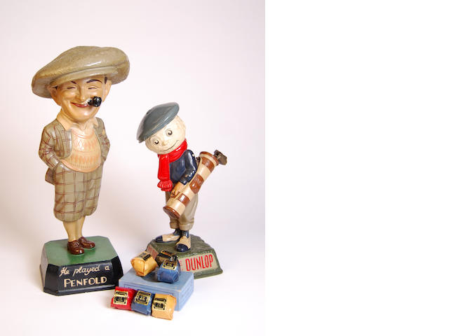 A 'We Play Dunlop' Caddie advertising point of sale figurine