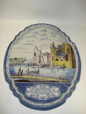 A Delft plaque 19th century