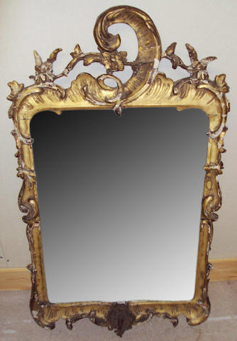 An 18th century giltwood mirror