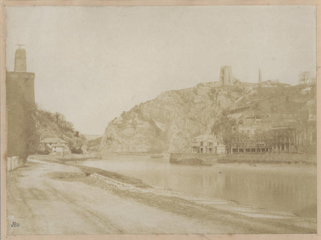 BRUNEL (ISAMBARD KINGDOM). CLIFTON SUSPENSION BRIDGE Two important views in the Avon Gorge, below Bristol, showing Isambard Kingdom Brunel's towers at the point when construction of his Clifton Suspension Bridge was abandoned,[1840s] (pair)