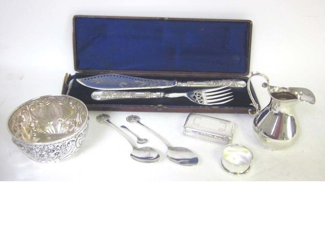 A large quantity of silver items,   (Qty)