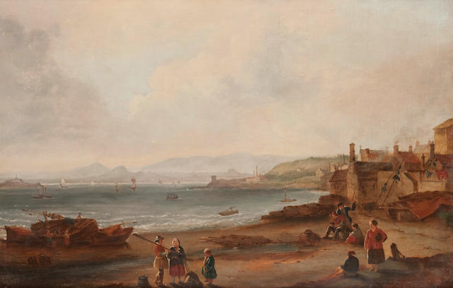 Scottish School, (19th century) Newhaven Harbour