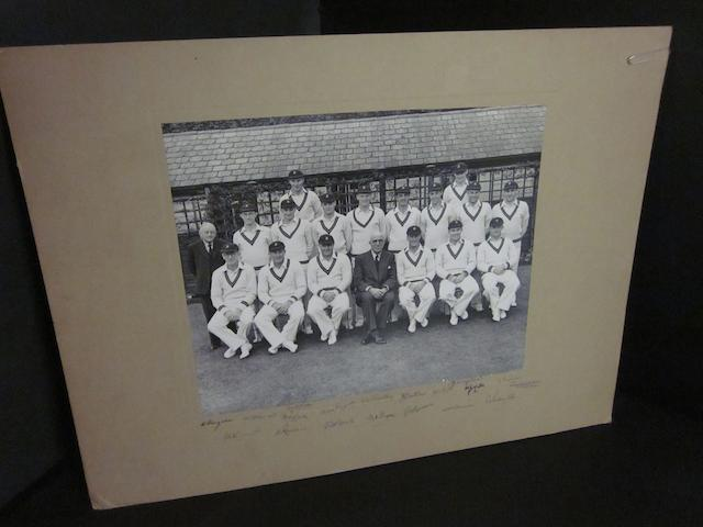 1951 South African touring team to England hand signed photograph
