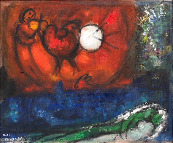 Marc Chagall (Russian/French, 1887-1985) Etude pour la nuit de Vence