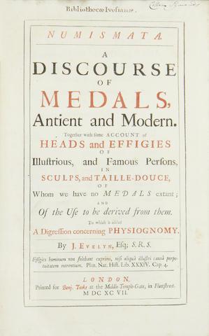 EVELYN (JOHN) Numismata. A Discourse of Medals, 1697