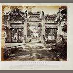 CHINA - TIENTSIN and PEKING An album of 24 topographical and architectural views of the Imperial Palace, temples and street scenes [c.1885]