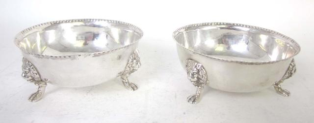 Two Victorian silver sugar bowls, in the 18th century style Pairpoint Bros, London 1895