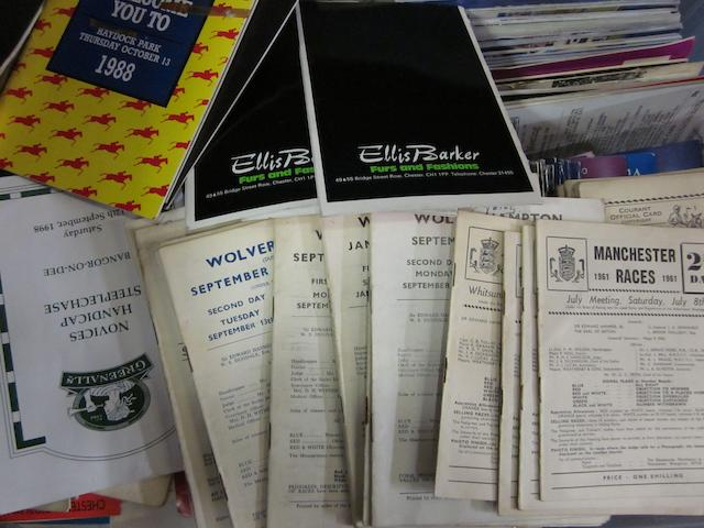 A large collection of 1960's to 2000's race cards
