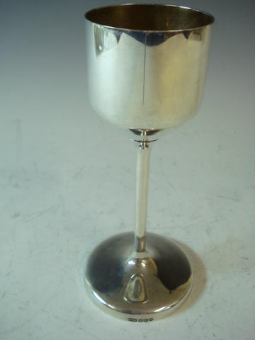 A modernist silver goblet by Robert Welch, Sheffield 1965