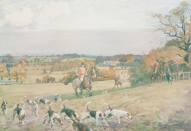 After Lionel Dalhousie Robertson Edwards, RI (British, 1878-1966) The Zetland Hunt at Carkin Whin