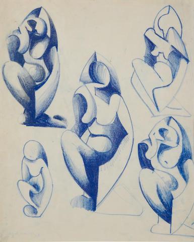 Cuthbert Hamilton (British, 1885-1959) Figure studies