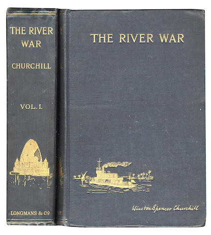 "CHURCHILL (WINSTON) The River War, 2 vol., third impression, AUTHOR'S PRESENTATION COPY, SIGNED AND DATED (""Winston S. Churchill/Dec. 28. 1900""), 1900"
