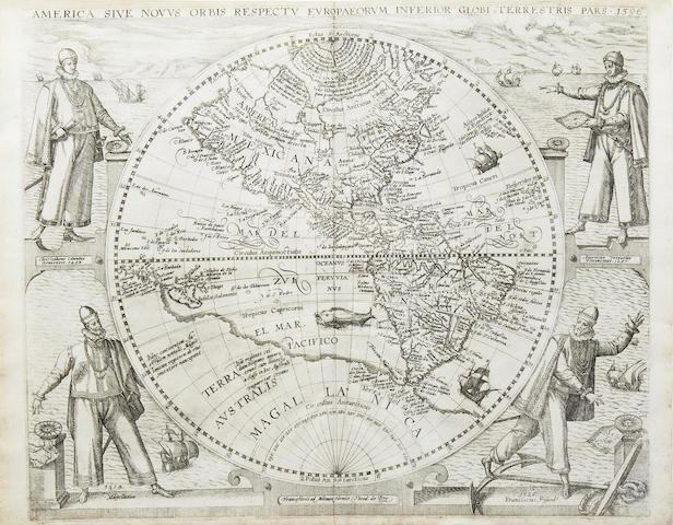 DE BRY (THEODORE) America sive novus orbis respectu Europaeorum inferior globi terrestris pars 1596
