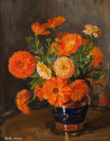 Kate Wylie (British, 1877-1941) Mixed flowers