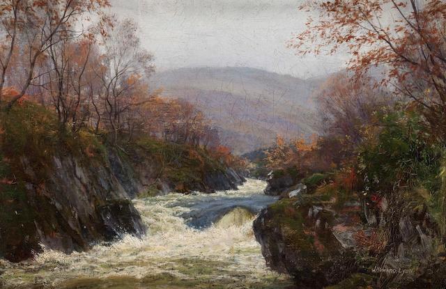 John Howard Lyon (British, died 1921) River landscape