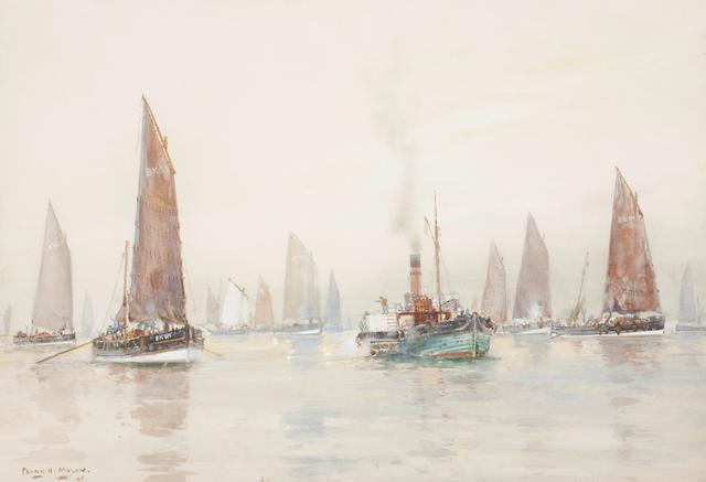 Frank Henry Mason (British, 1875-1965) Sailing ships