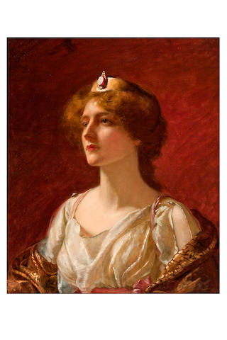19th Century European School Untitled Woman with coronet
