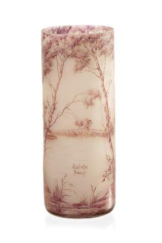 A Delatte Nancy landscape vase circa 1910