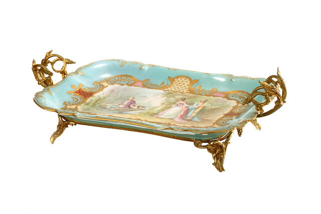A Sèvres style tray  19th century