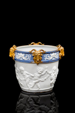 A French late 19th century Sévres style jardiniere