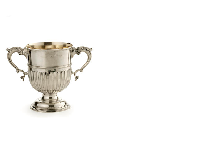 A Victorian   silver pedestal wine cooler Messrs Hancock CSH London 1895  (1)