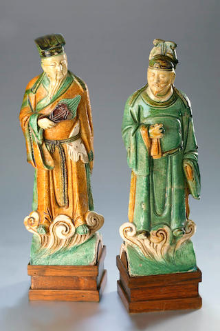 A pair of figural roof tiles Ming Dynasty (1368–1644)