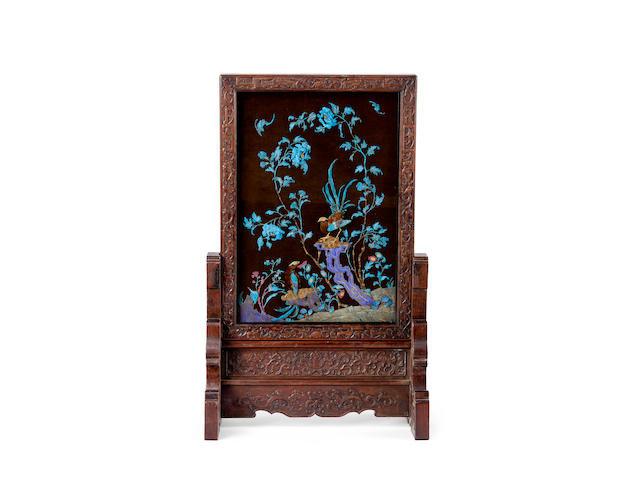 A Chinese table screen 19th century
