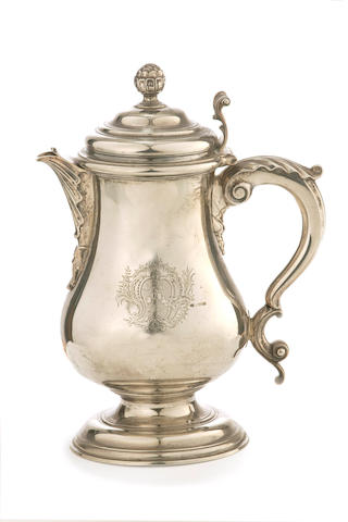 A George II   silver coffee pot  Jacob Marsh London 1746