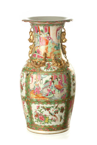 A Cantonese famille rose vase 19th century