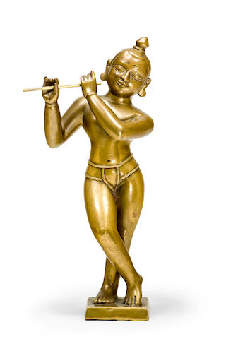 A large figure of Krishna Bengal, 19th century