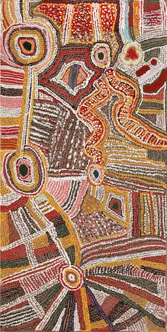 Elizabeth Nyumi Nungurrayi Untitled (Tjangalitjarpa, near Jupiter Well)