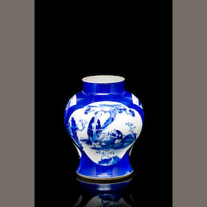 A Chinese blue and white vase 19th century