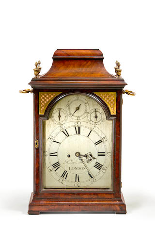 A George III mahogany bracket clock by Robert Holland, London 1750