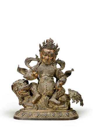 A bronze figure of Vaishravana 18th/ 19th century