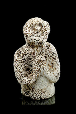 A Rare coral figureAttributed to Torres Strait Islands