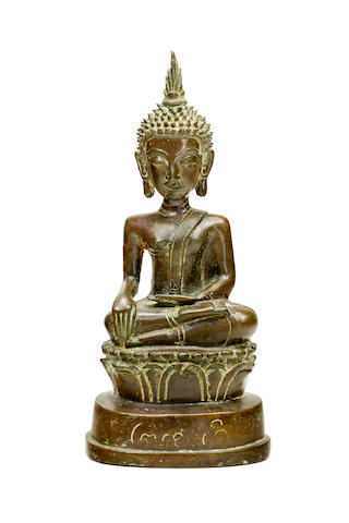 A bronze Buddha Laos, 19th century