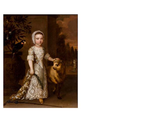 Circle of Sir Godfrey Knellor (1646 – 1723) Portrait of Girl as Shepherdess