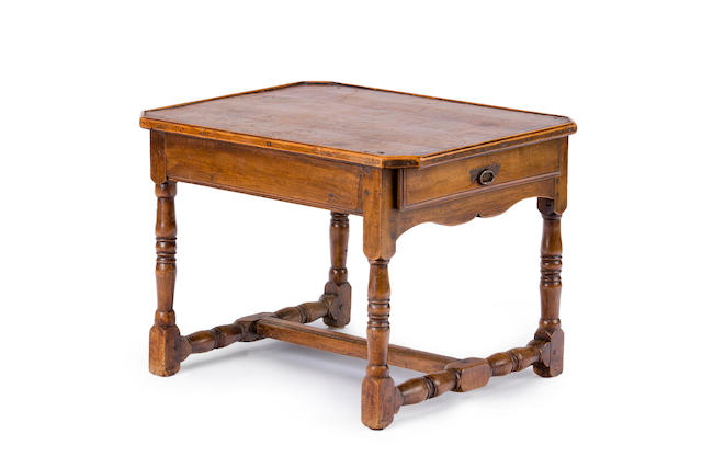 A French Provincial walnut side table