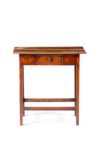 A George III oak side table