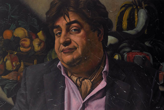Neil McIrvine (born 1959) Matt Preston with Caravagio Still Life 2005