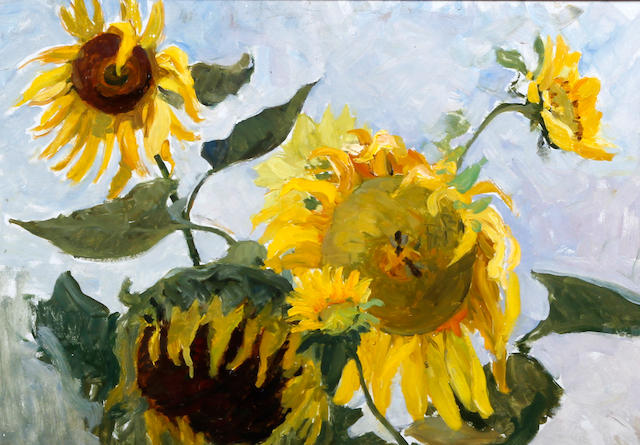 Petr Shigimaga (Russian), (circa 1957) 'Sunflowers'