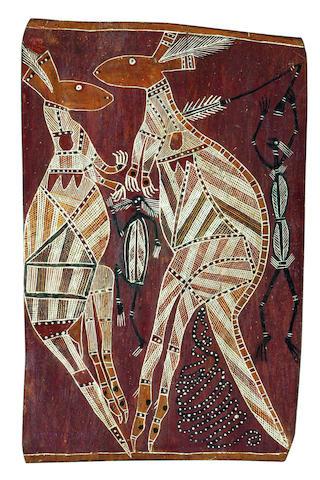 Yirawala (1900-1970) Untitled (Kangaroos)