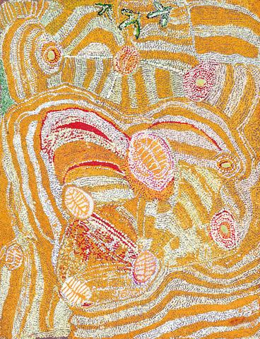 Eubena Nampitjin (born circa 1924) Pingkarri, Canning Stock Route