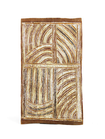 attributed to Mawalan Marika (circa 1908-1967) Untitled (Rirratjingu Clan Design)