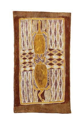 Birrikidji Gumana (circa 1898-1982) Untitled (Minhala, long necked tortoise)