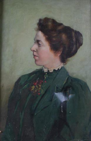 John Loudon (British, active 1893-1900) A portrait of a lady